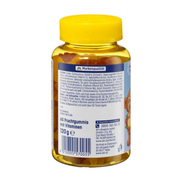 Multivitamin-Bärchen für Kinder, Fruchtgummis, 120 g