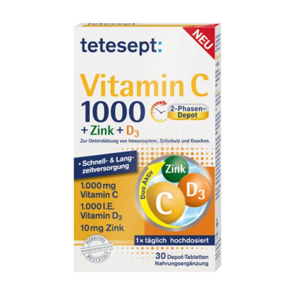 Vitamin C + Zink + D3 Tabletten 30St, 41,6 g