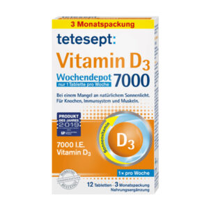 Vitamin D3 7.000 Wochendepot Tabletten 12 St., 6 g