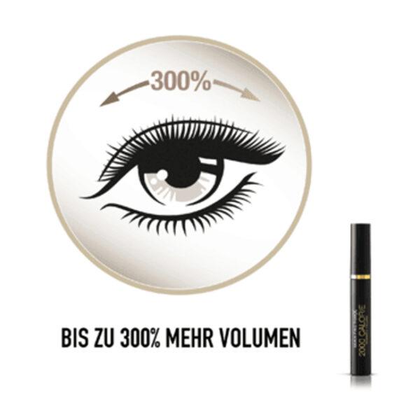 Wimperntusche 2000 Calorie Dramatic Mascara Volume Black, 9 mll