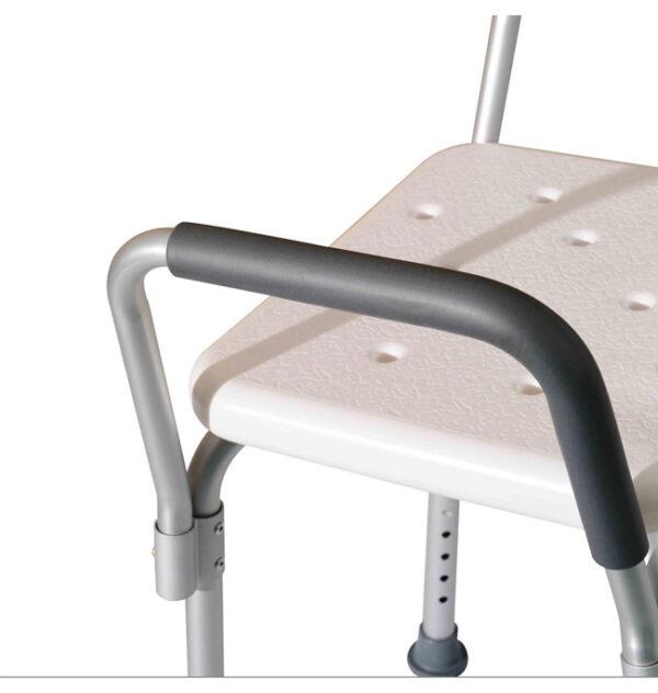 HOMCOM® Duschhocker mit Lehne höhenverstellbar