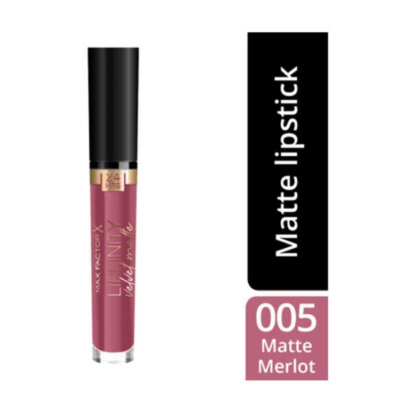 Lipgloss Lipfinity Velvet Matte Matte Merlot 005, 3,5 ml
