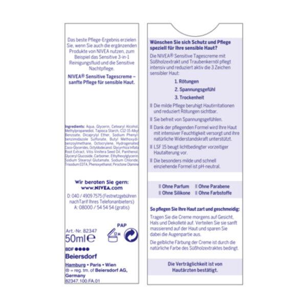 Tagescreme Essentials Feuchtigkeit & Sensitiv, 50 ml