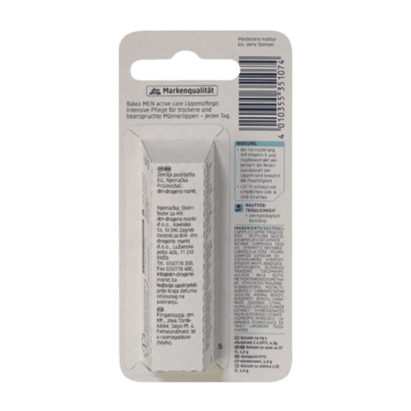 Lippenpflege active care, 4,8 g