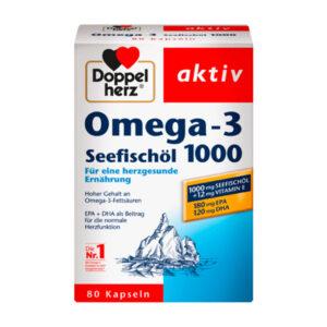Omega-3 Seefischöl 1000 Kapseln 80 St., 107,8 g