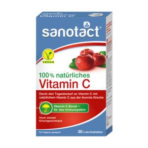 natürliches Vitamin C Lutschtabletten 30 St., 51 g