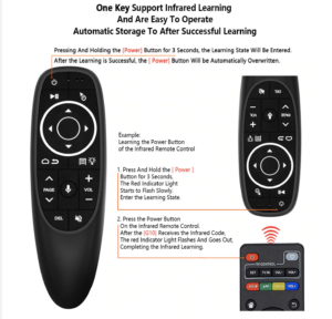 G10S Pro Air Mouse Backlit Voice Remote Control Wireless