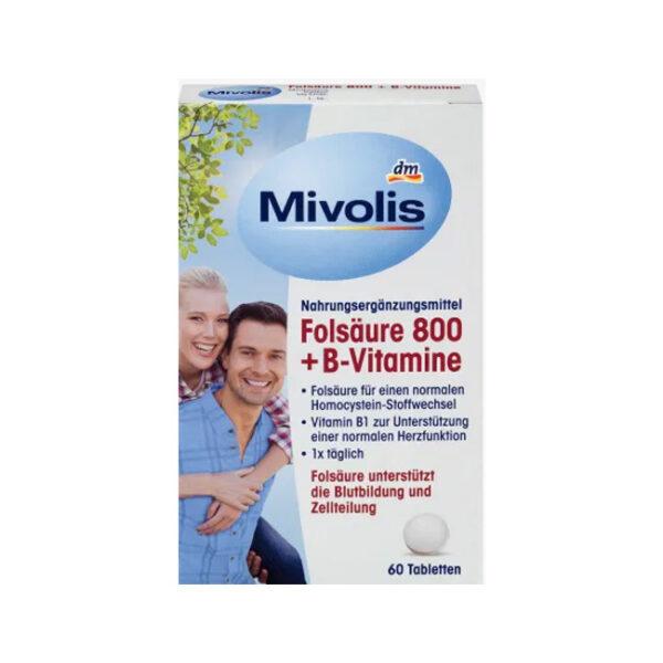 Folsäure 800 + B-Vitamine, Tabletten 60 St., 60 St