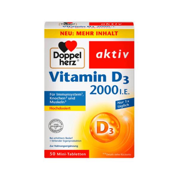 Vitamin D3 (50 Tabletten), 20,4 g
