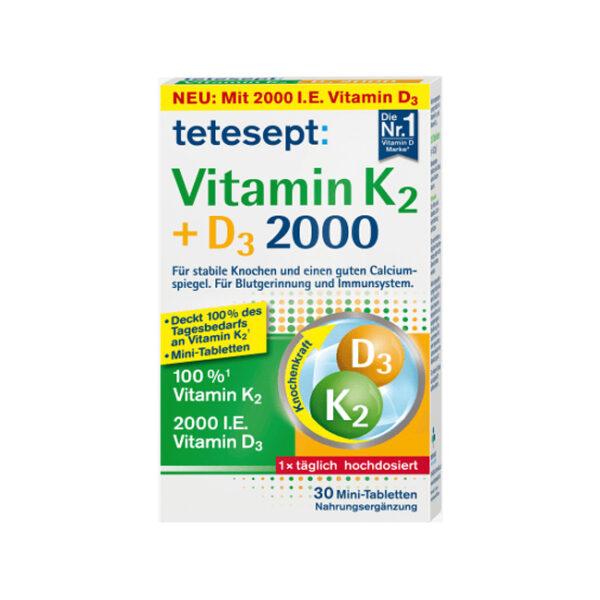 Vitamin K + D3 Mini Tabletten 30St., 9,2 g