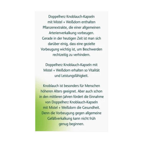 Knoblauch Kapseln mit Mistel + Weißdorn, 480 St