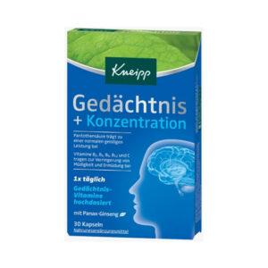 Gedächtnis + Konzentration Kapseln 30 St., 14,9 g