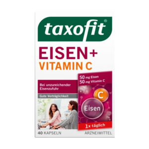 Eisen + Vitamin C Kapseln, 40 St