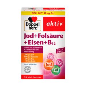 Jod + Folsäure + Eisen Tabletten 45 St., 20,4 g