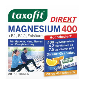 Magnesium 400 + B1 + B6 + B12 + Folsäure 800 Direkt-Granulat 20 St., 40 g