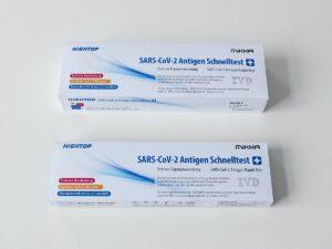 100x 1er Hightop SARS-CoV-2 Antigen Schnelltest, Selbsttest