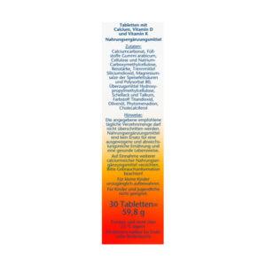 Calcium + Vitamin D3 Tabletten 30 St., 59,8 g
