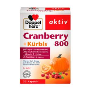 Cranberry + Kürbis + Vitamin C + Selen Kapseln 30 St., 27,7 g