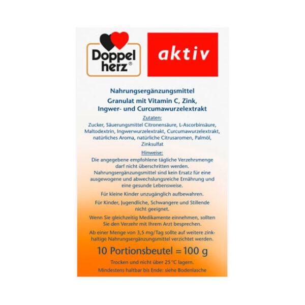 Heißer Ingwer + Kurkuma Heißgetränk (10 Stück), 100 g