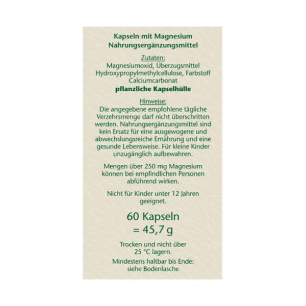 Magnesium 400 Kapseln (60 Stück), 45,7 g