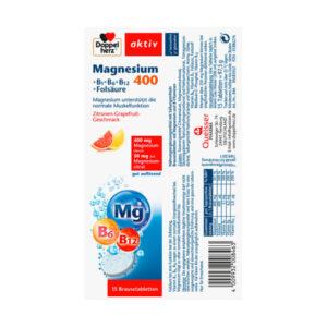 Magnesium 400 + Vitamine B6 + B12 + Folsäure Brausetabletten 15 St.