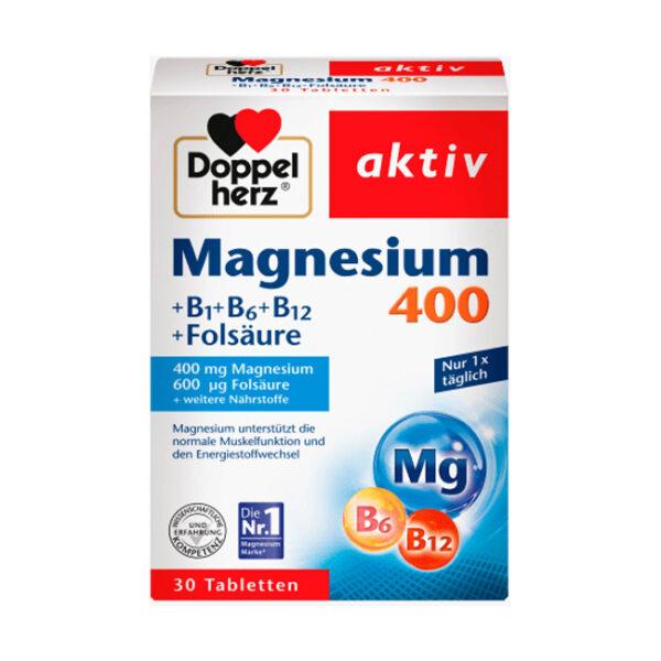 Magnesium 400mg Tabletten 30 St., 38,1 g
