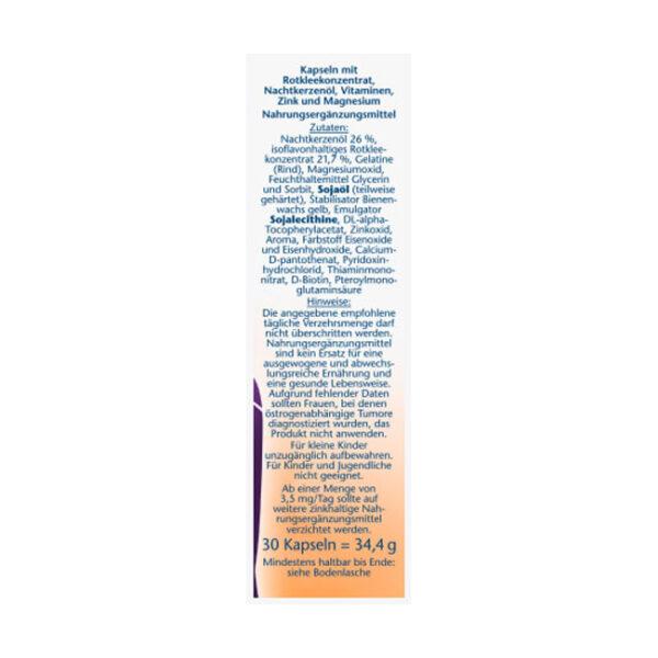 Meno Rotklee + Nachtkerzenöl + Biotin Kapseln 30 St., 34,4 g