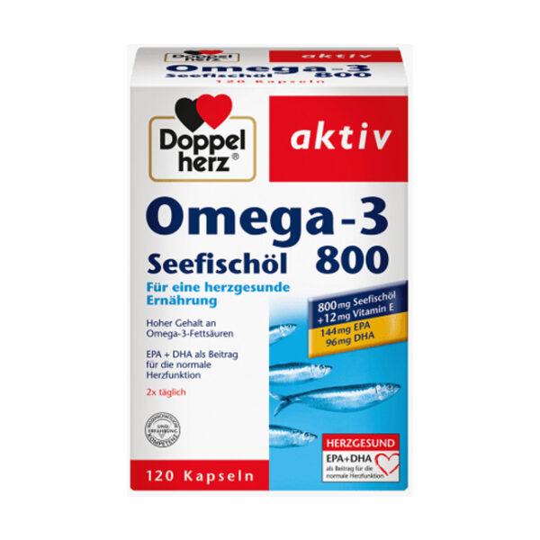Omega-3 Seefischöl 800 Kapseln 120 St., 142 g