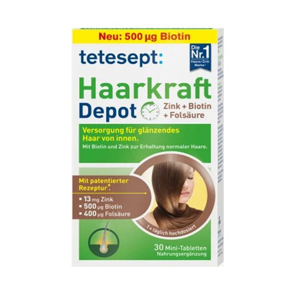 Haarkraft Zink + Biotin + Folsäure Tabletten 30 St., 7,5 g
