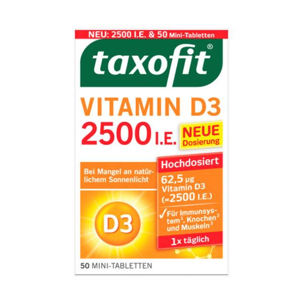 Vitamin D3 Mini-Tabletten (50 Stück), 7,7 g