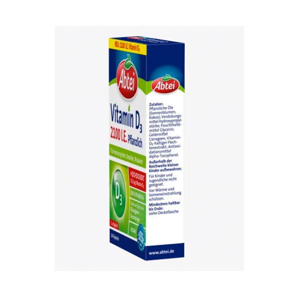Vitamin D3 2100 I.U. Vegetable capsules 24pcs.